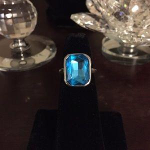 Jewelry - Ring: 🔥2/$40 Princess Cut  Blue Crystal Ring.